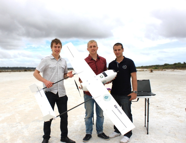 The team with the Skyhunter UAV