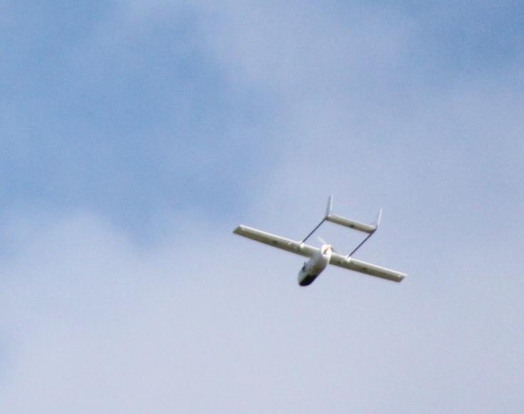 The Skyhunter flying autonomously