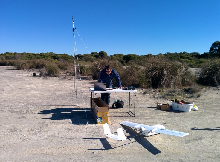 Geoff at the ground control station