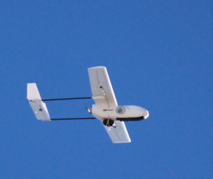 Our UAV flying autonomously