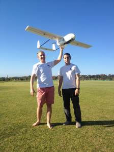 Mike and Geoff with the UAV from the 2014 Challenge
