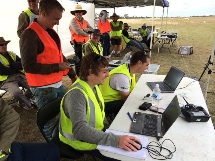 The team controlling the UAV from the ground station