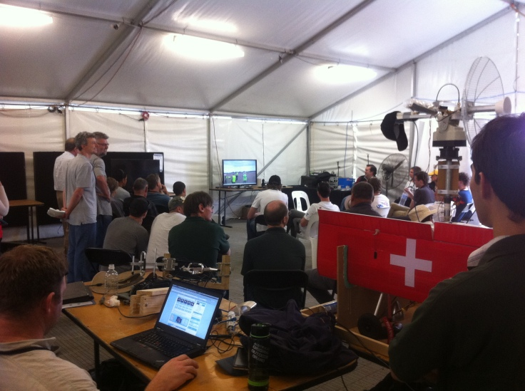 Teams back in the tent had a live-view of the teams currently carrying out the mission